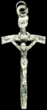 Photo of STERLING SILVER PAPAL CRUCIFIX 1249