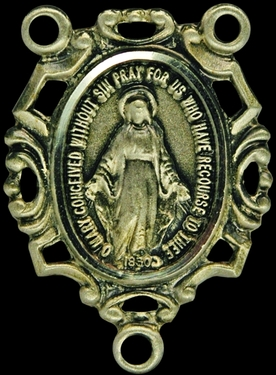 Photo of STERLING SILVER MIRACULOUS MEDAL CENTER 1312