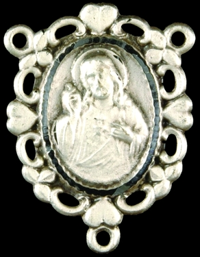Photo of STERLING SILVER SACRED HEART OF JESUS CENTER 1313