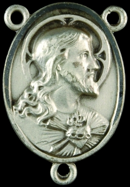 Photo of STERLING SILVER SACRED HEART OF JESUS CENTER 1326