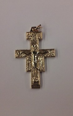 Photo of GOLD PLATED SAN DAMIANO CRUCIFIX 1470