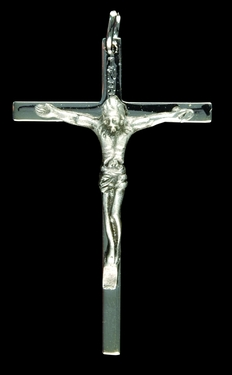 Photo of DELUXE SILVER FINISH CRUCIFIX 216