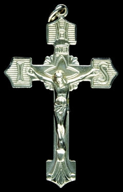 Photo of DELUXE SILVER FINISH CRUCIFIX 237