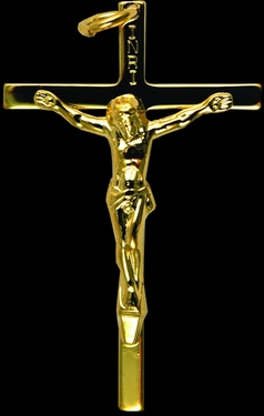 Photo of GOLD OVER STERLING SILVER CRUCIFIX 451