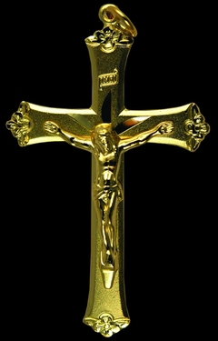 Photo of GOLD OVER STERLING SILVER CRUCIFIX 453