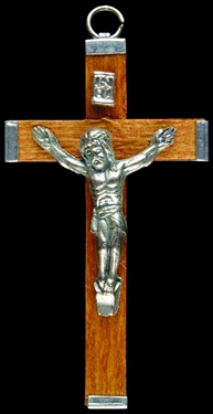 Photo of BROWN WOOD CRUCIFIX 549BR