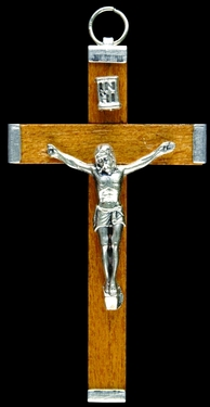 Photo of NATURAL WOOD CRUCIFIX 549NA