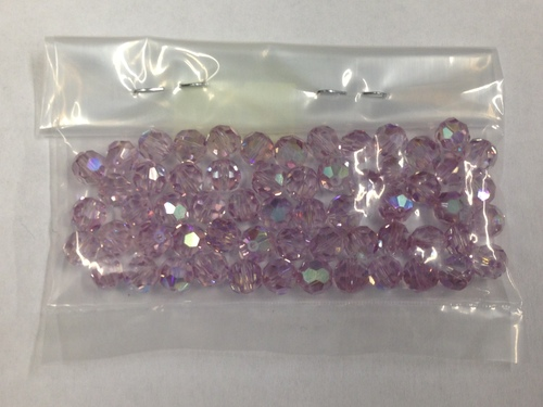 Photo of LT AMETHYST 6MM SWAROVSKI AURORA BOREALIS CRYSTAL BEADS 611LAM