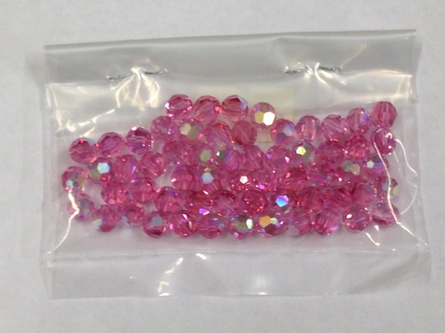 Photo of ROSE 6MM SWAROVSKI AURORA BOREALIS CRYSTAL BEADS 611RO