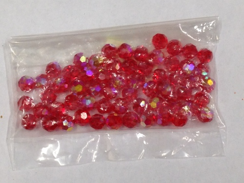 Photo of RUBY 6MM SWAROVSKI AURORA BOREALIS CRYSTAL BEADS 611RU