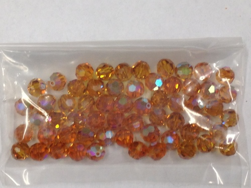 Photo of TOPAZ 6MM SWAROVSKI AURORA BOREALIS CRYSTAL BEADS 611T