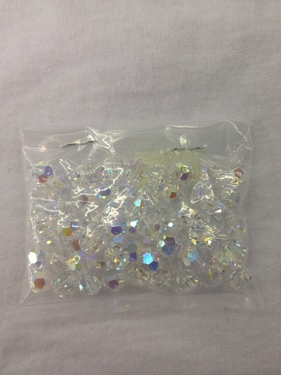 Photo of CRYSTAL 8MM FACETED SWAROVSKI CRYSTAL BEADS WITH AURORA BOREALIS COATING 619C