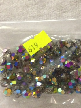 Photo of VITRAIL 8MM FACETED SWAROVSKI CRYSTAL BEADS WITH AURORA BOREALIS COATING 619VI