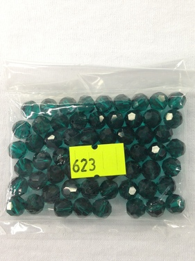 Photo of EMERALD 8MM FACETED SWAROVSKI CRYSTAL BEADS 623E