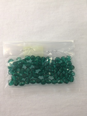 Photo of EMERALD 6MM FIRE POLISHED FACETED BEADS 625E