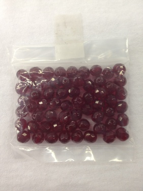 Photo of GARNET 8MM FIRE POLISHED FACETED BEADS 627GA