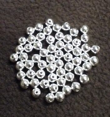 Photo of 6MM SILVER METALIZED BEADS 675