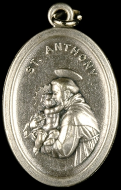 Photo of OXIDIZED ST ANTHONY MEDAL 704A