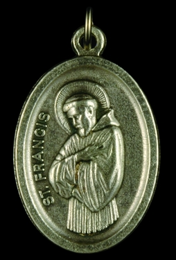 Photo of OXIDIZED ST FRANCIS OF ASSISI MEDAL 704F