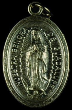 Photo of OXIDIZED OUR LADY OF GUADALUPE MEDAL 704GU