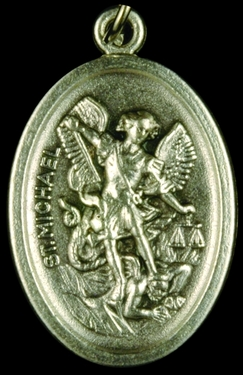 Photo of OXIDIZED ST MICHAEL MEDAL 704M