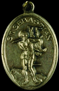 Photo of OXIDIZED ST SEBASTIAN MEDAL 704S