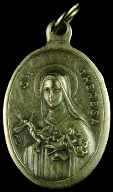 Photo of OXIDIZED ST THERESE MEDAL 704T