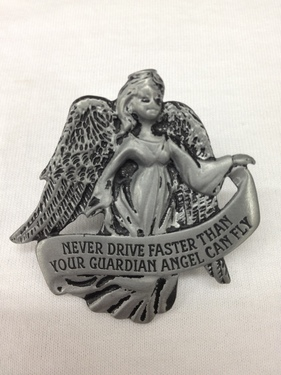 Photo of NEVER DRIVE FASTER THEN YOUR GUARDIAN ANGEL AUTO VISOR CLIP 746