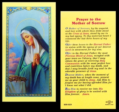 Photo of MOTHER OF SORROWS 800-029