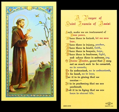Photo of ST FRANCIS OF ASSISSI 800-040