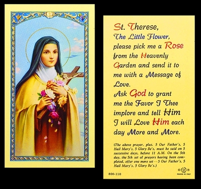 Photo of ST. THERESA-PICK ME A ROSE 800-110