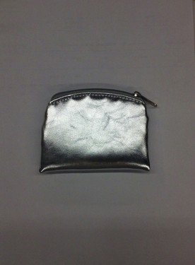 Photo of SILVER 3X4 ZIPPER ROSARY POUCH 909S