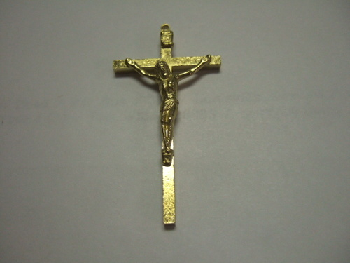 Photo of GILT PLATED MISSION CRUCIFIX C3G