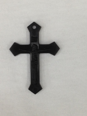 Photo of BLACK PLASTIC MISSION CRUCIFIX M1BK
