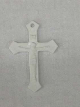 Photo of WHITE PLASTIC MISSION CRUCIFIX M1W
