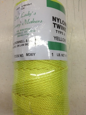 Photo of #36 YELLOW/NEON TWISTED NYLON TWINE M36Y