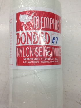 Photo of #7 BONDED WHITE NYLON TWINE-CORD - ONE POUND SPOOL MAKES APPROXIMATELY 800 BEADED CORD ROSARIES M40B